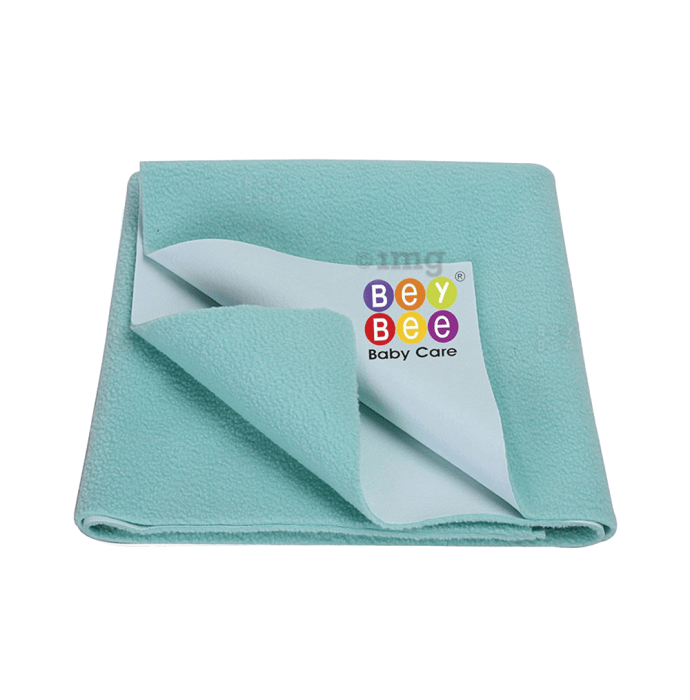 Bey Bee Waterproof Baby Bed Protector Dry Sheet for New Born Babies (70cm X 50cm) S Sea Green