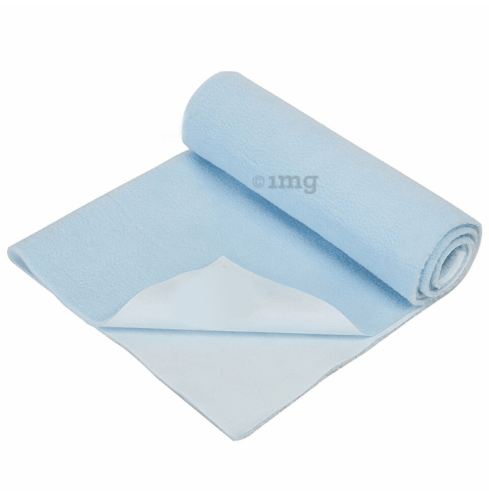 Bey Bee Waterproof Baby Bed Protector Dry Sheet for New Born Babies (70cm X 50cm) Small Blue