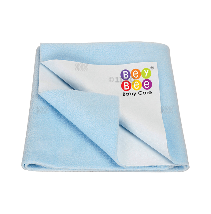 Bey Bee Waterproof Baby Bed Protector Dry Sheet for Toddlers (100cm X 70cm) M Blue