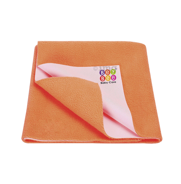 Bey Bee Waterproof Baby Bed Protector Dry Sheet for Toddlers (100cm X 70cm) M Peach