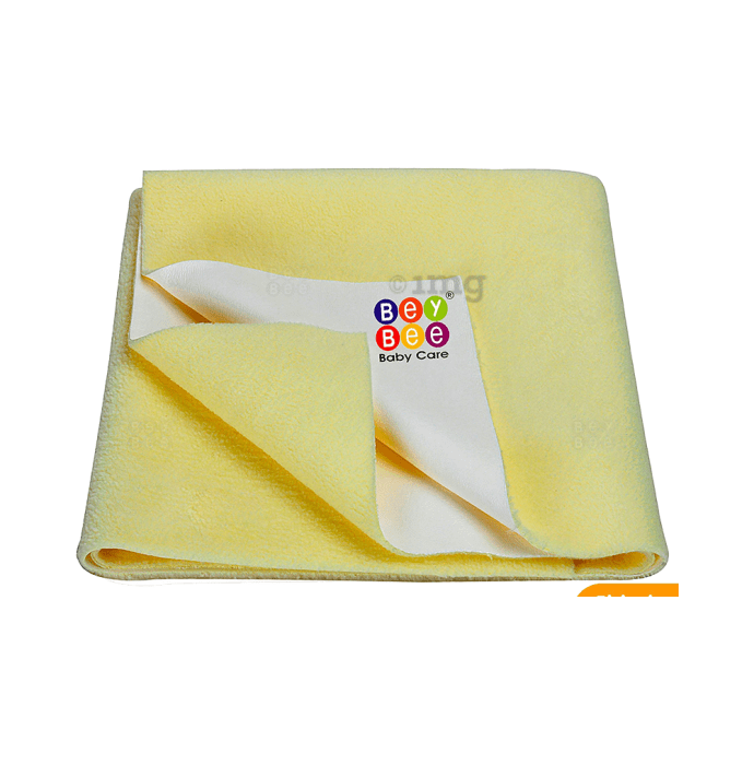 Bey Bee Waterproof Mattress Protector Sheet For Babies and Adults (140cm X 100cm) L Yellow