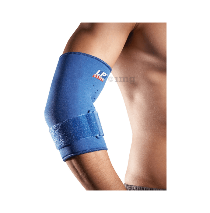 LP 723 Neoprene Tennis Elbow Support with Strap S Blue