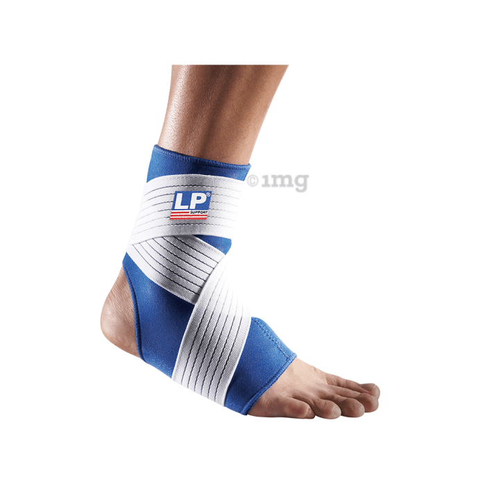 LP 728 Neoprene Ankle Support with Strap L Blue