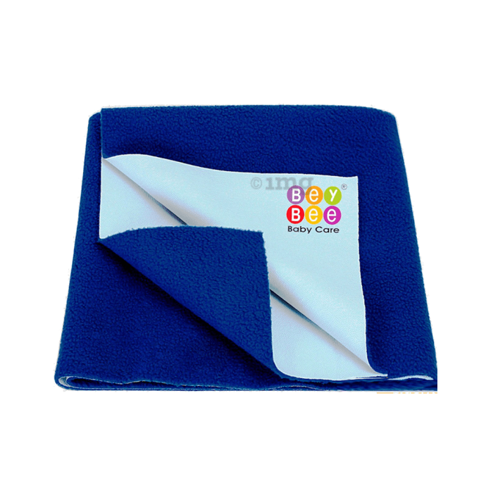 Bey Bee Waterproof Mattress Protector Dry Sheet For Babies and Adults (200cm X 140cm) Sheet XL Royal Blue