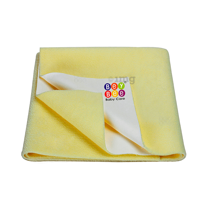 Bey Bee Waterproof Mattress Protector Dry Sheet For Babies and Adults (200cm X 140cm) Sheet XL Yellow