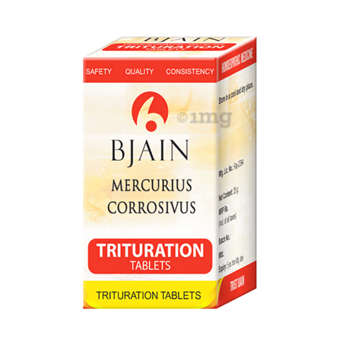 Bjain Mercurius Corrosivus Trituration Tablet 6X