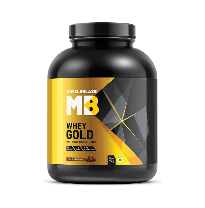 MuscleBlaze Whey Gold Whey Protein Isolate Rich Milk Chocolate