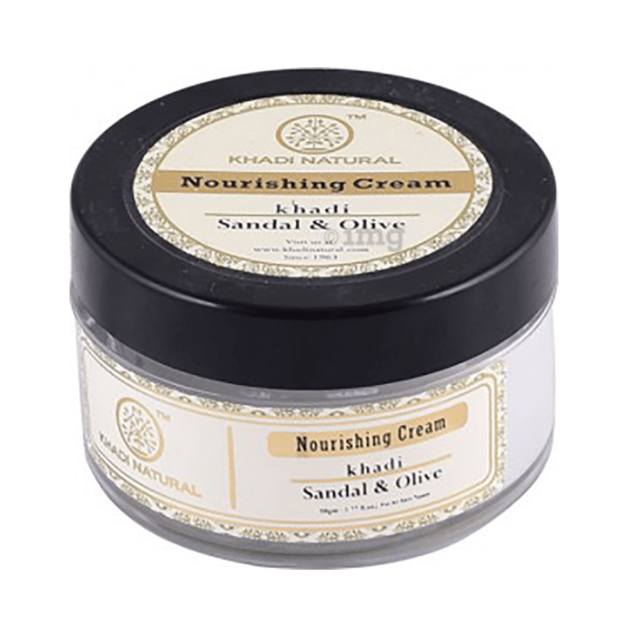 Khadi Naturals Ayurvedic Sandal & Olive Face Nourishing Cream