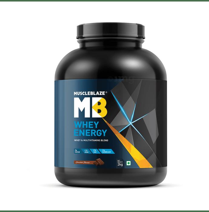 MuscleBlaze Whey Energy with Digezyme Whey & Multivitamins Blend Powder Chocolate