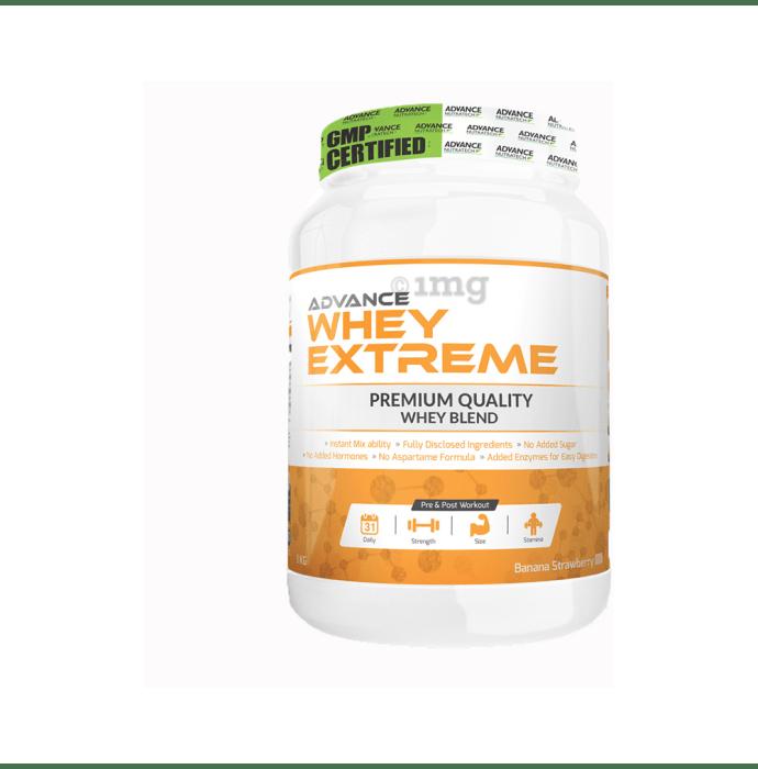 Advance Nutratech Whey Extreme Protein Powder Banana Strawberry