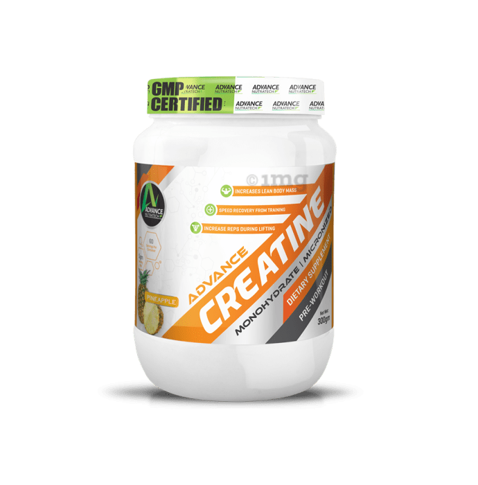 Advance Nutratech Creatine Monohydrate Powder Pineapple