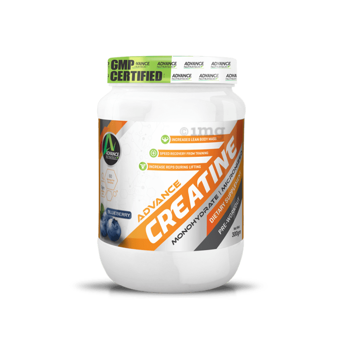 Advance Nutratech Creatine Monohydrate Powder Blueberry