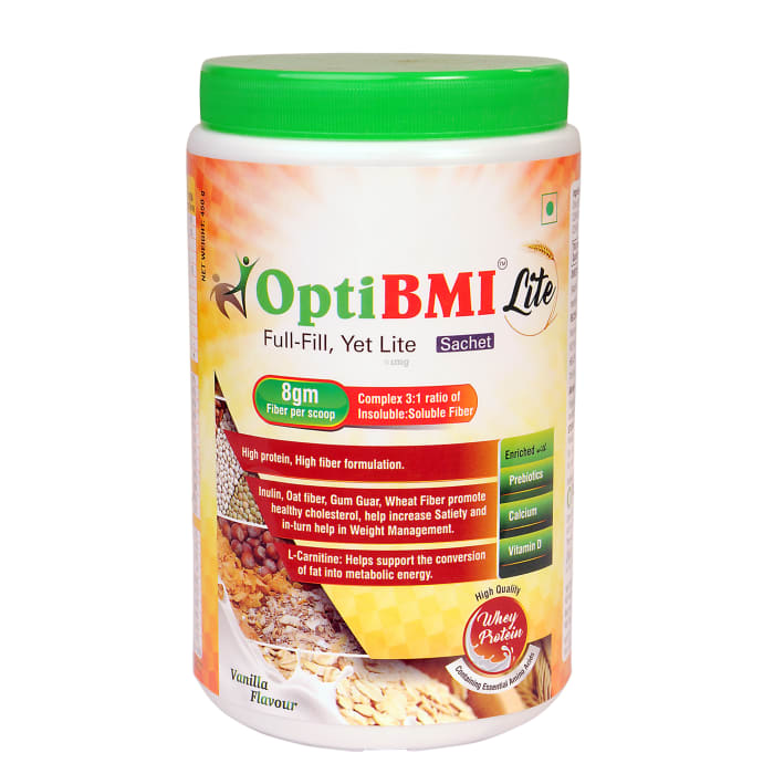 OptiBMI Lite Whey Protein Powder Vanilla