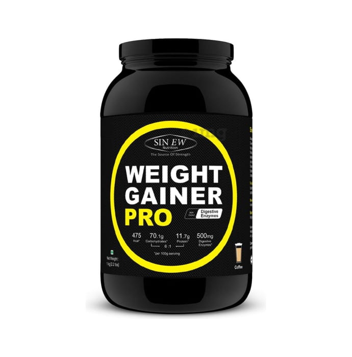 Sinew Nutrition Weight Gainer Pro with Digestive Enzymes Coffee