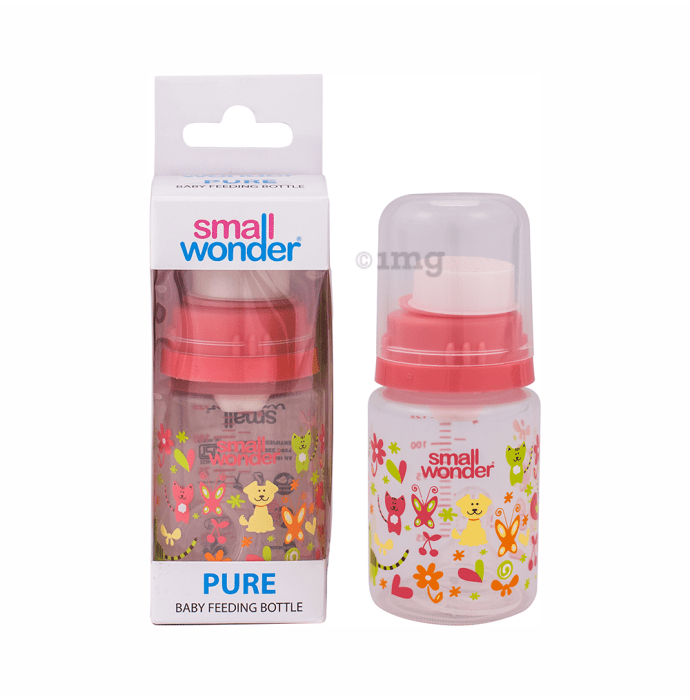 Small Wonder Pure Baby Feeding Bottle 125ml Pink