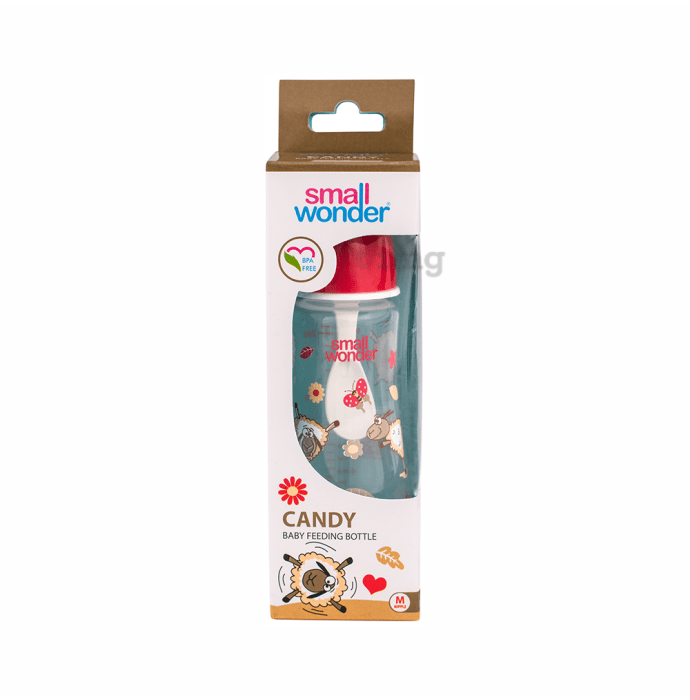 Small Wonder Candy Baby Feeding Bottle M Red