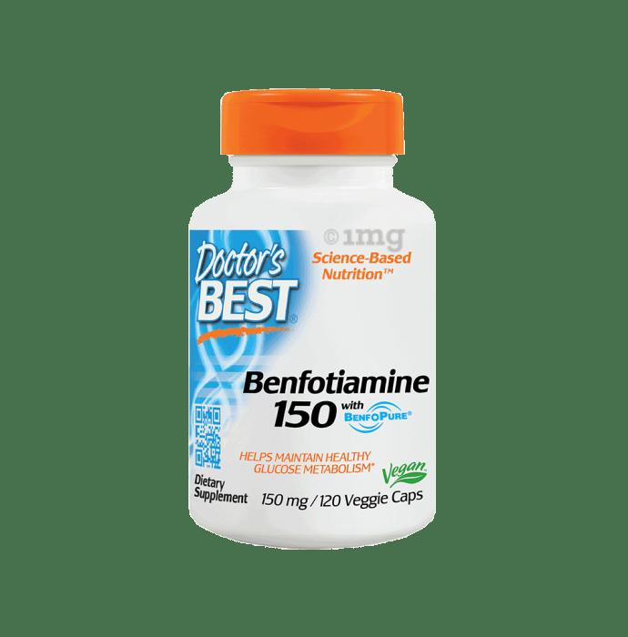 Doctor's Best Benfotiamine 150 with Benfopure Veggie Capsule
