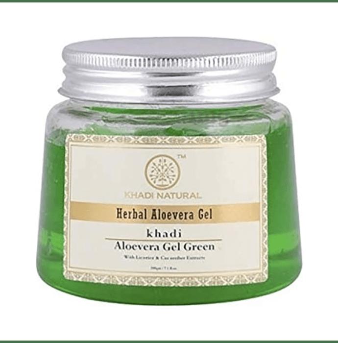 Khadi Naturals Ayurvedic Aloevera Gel with Liqorice & Cucumber Extracts Green