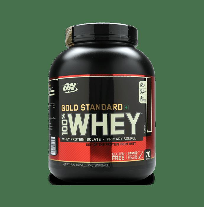 Optimum Nutrition (ON) Gold Standard 100% Whey Protein Powder Coffee