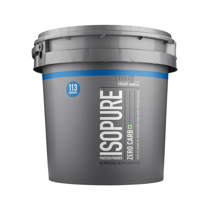 IsoPure Zero Carb 100% Whey Protein Isolate Powder Creamy Vanilla