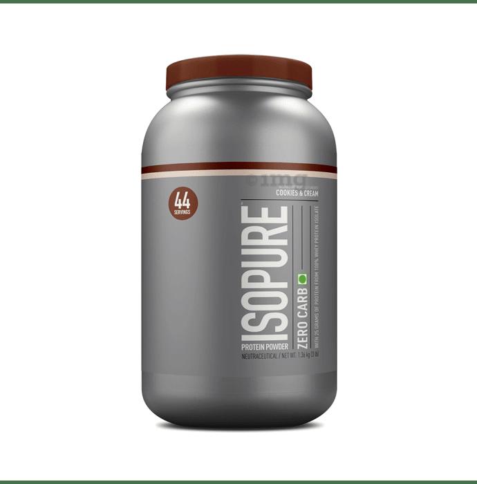IsoPure Zero Carb 100% Whey Protein Isolate Powder Cookies & Cream