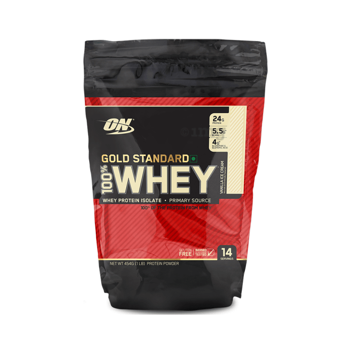 Optimum Nutrition (ON) Gold Standard 100% Whey Protein Powder Vanilla Icecream