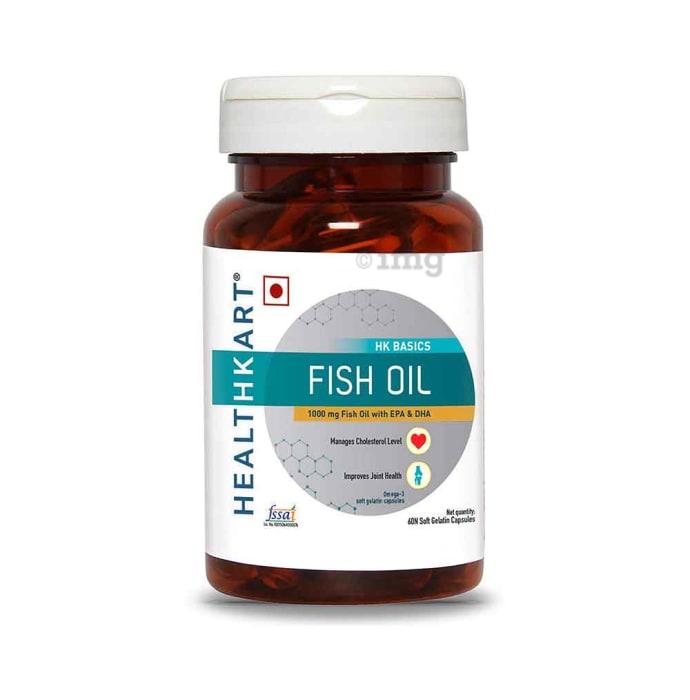 HealthKart Fish Oil 1000mg Soft Gelatin Capsule