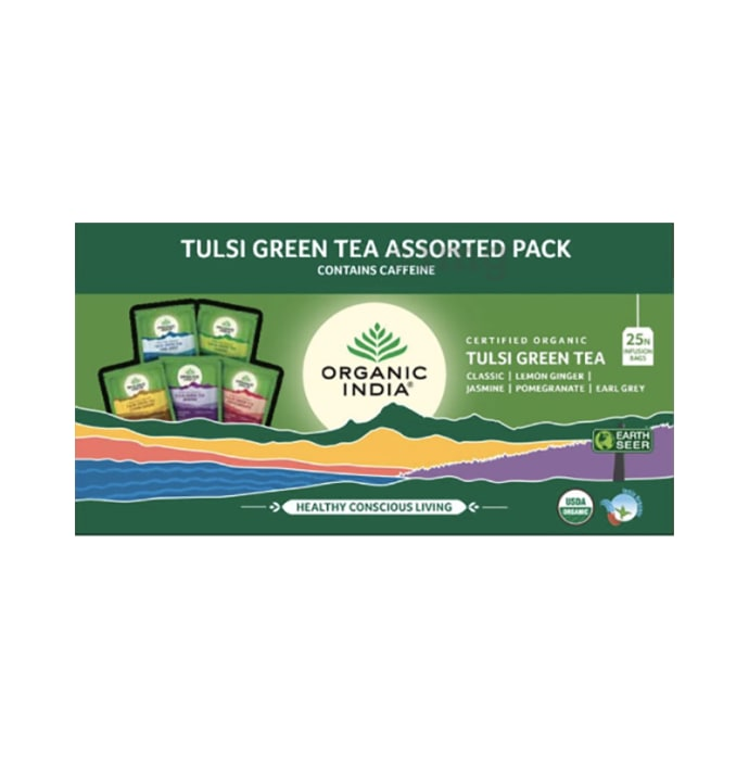 Organic India Tulsi Green Tea Assorted
