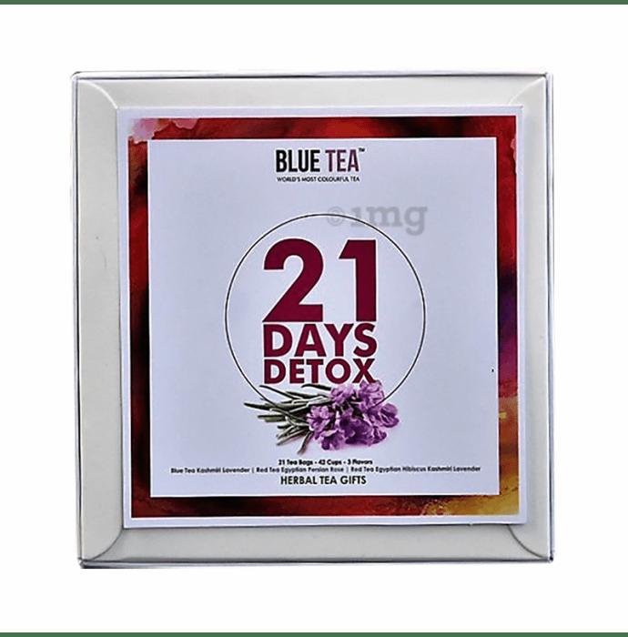 Blue Tea Herbal Tea Gifts 21 Days Detox Assorted Tea