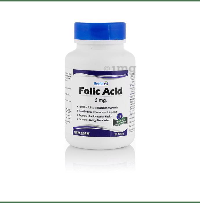 HealthVit Folic Acid 5mg Tablet