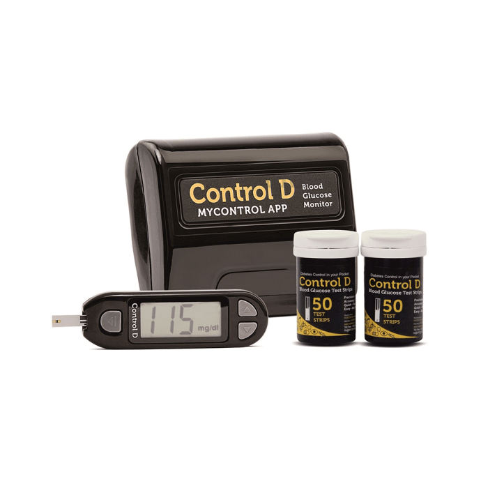 Control D Blood Glucose Monitor Kit with 100 Strips