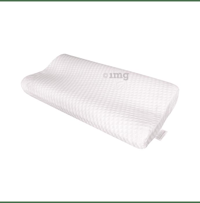Sleepsia Medium Visco Memory Foam Pillow White