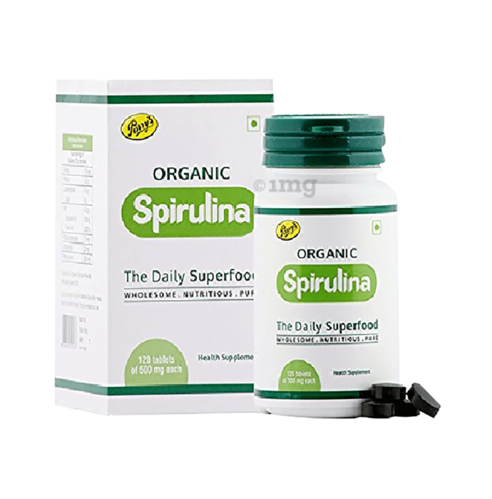 Parry's Organic Spirulina 500mg Tablet