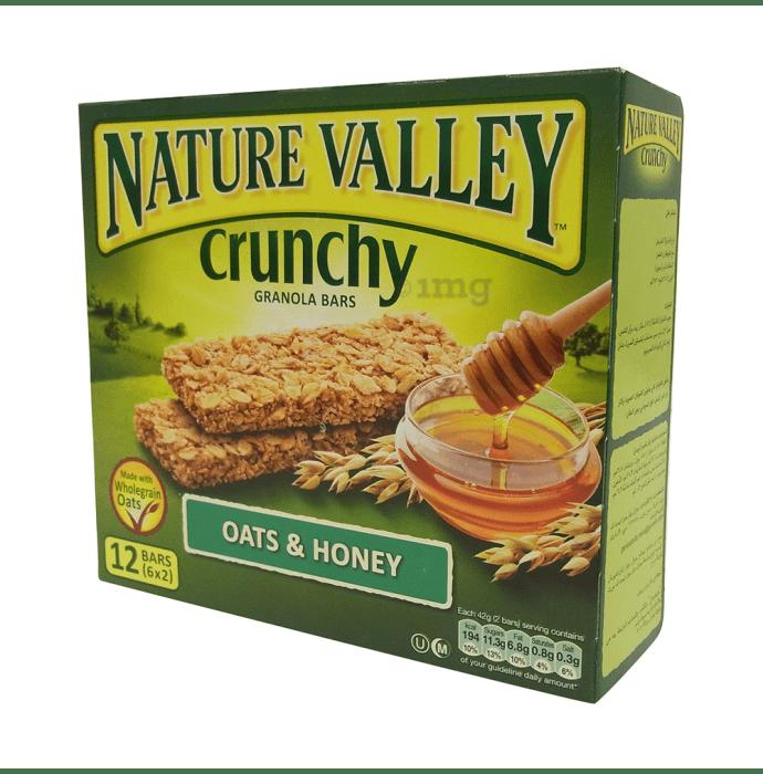 Nature Valley Crunchy Granola Bar (42gm Each) Oats and Honey