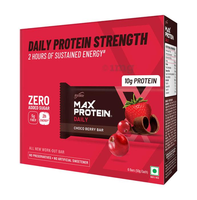 RiteBite Max Protein Daily Bar (50gm Each) Choco Berry