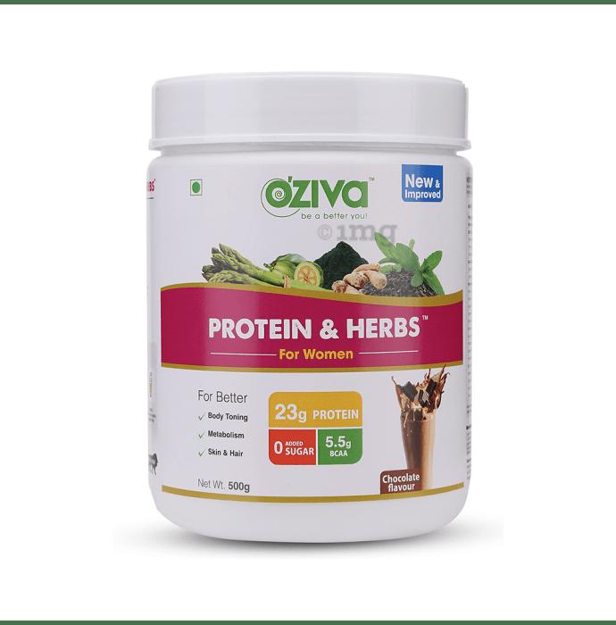 Oziva Protein & Herbs for Women Chocolate
