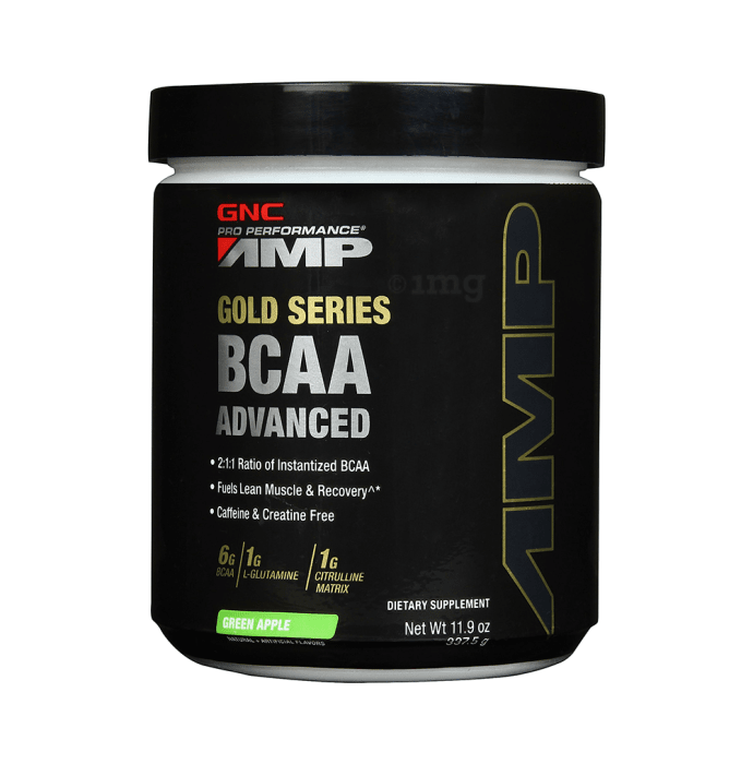 GNC Pro Performance AMP Gold Series BCAA Advanced Green Apple