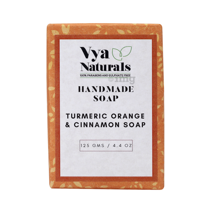 Vya Naturals Handmade Soap Turmeric Orange and Cinnamon