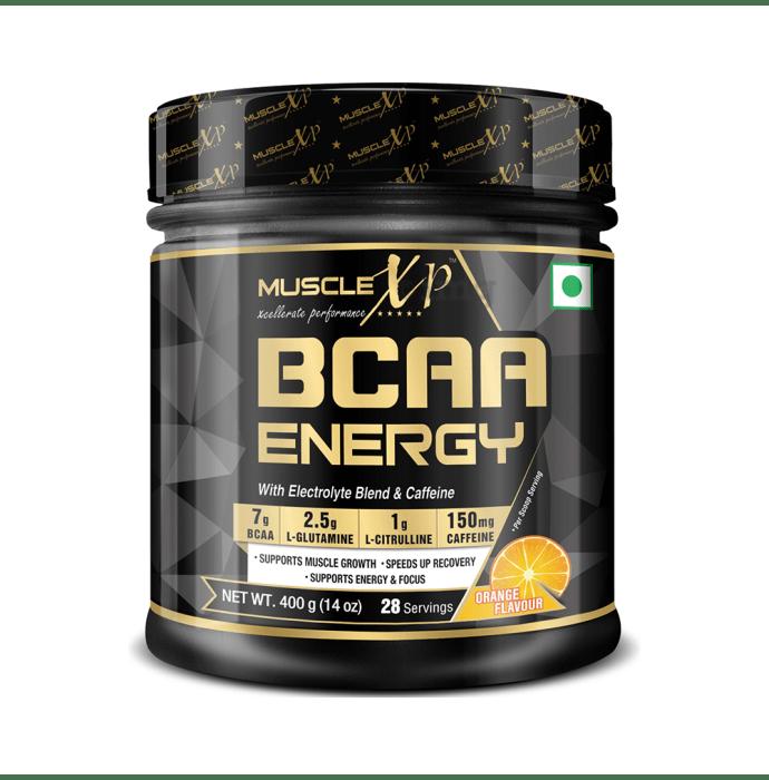 MuscleXP BCAA Energy With Electrolyte Blend & Caffeine Powder Orange