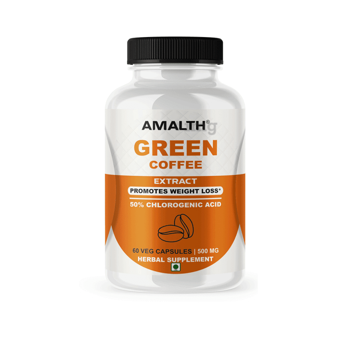 Amalth Green Coffee Extract Veg Capsules: Buy bottle of 60 ...