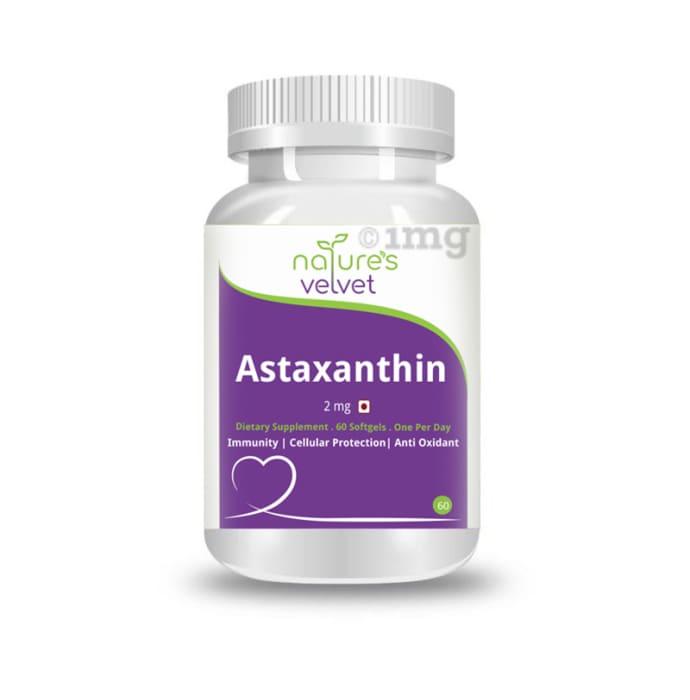 Nature's Velvet Astaxanthin 2mg Softgels