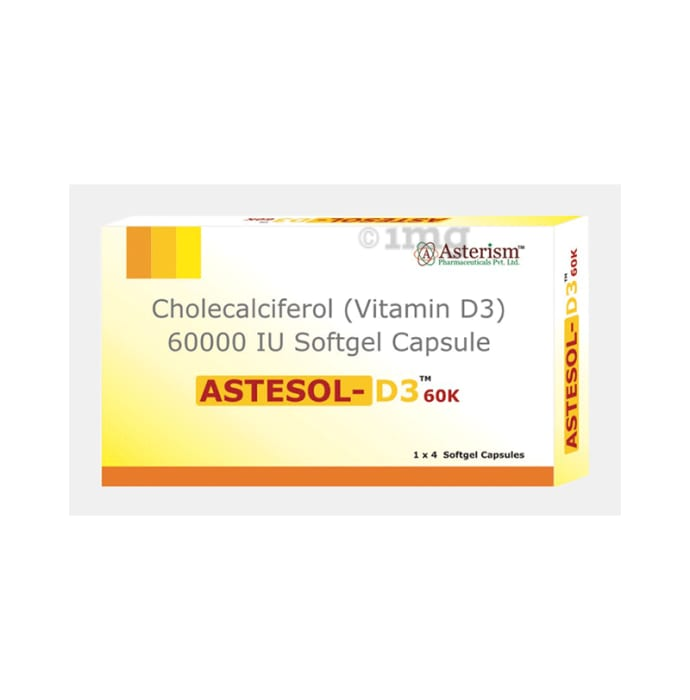 Astesol-D3 60K Soft Gelatin Capsule