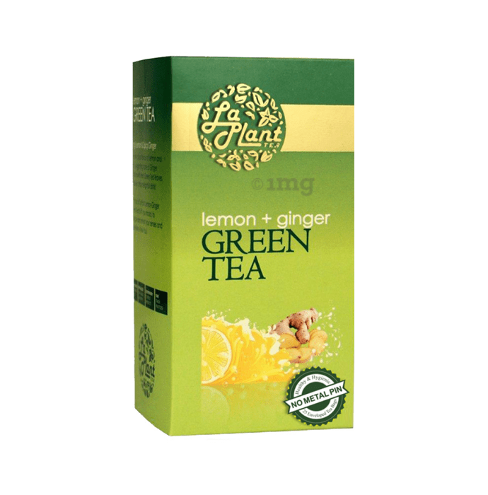 Laplant Green Tea Bag Lemon+Ginger