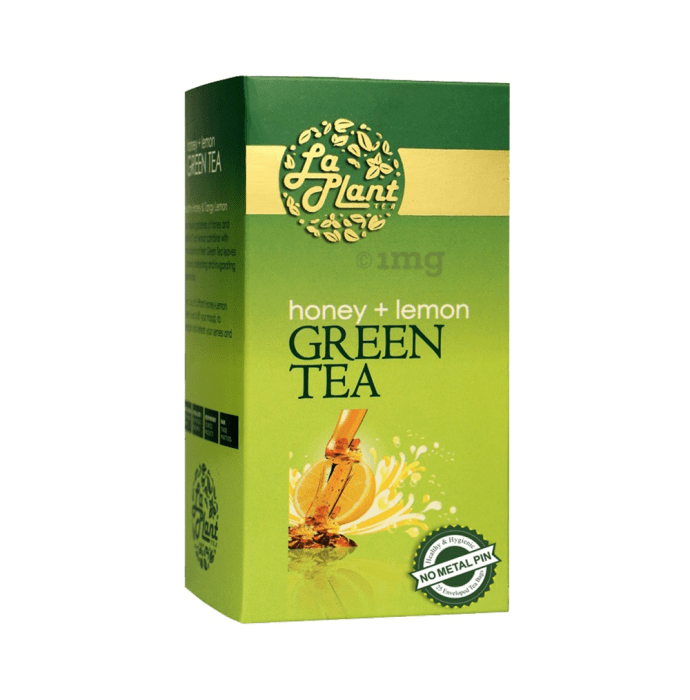 Laplant Green Tea Bag Honey+Lemon