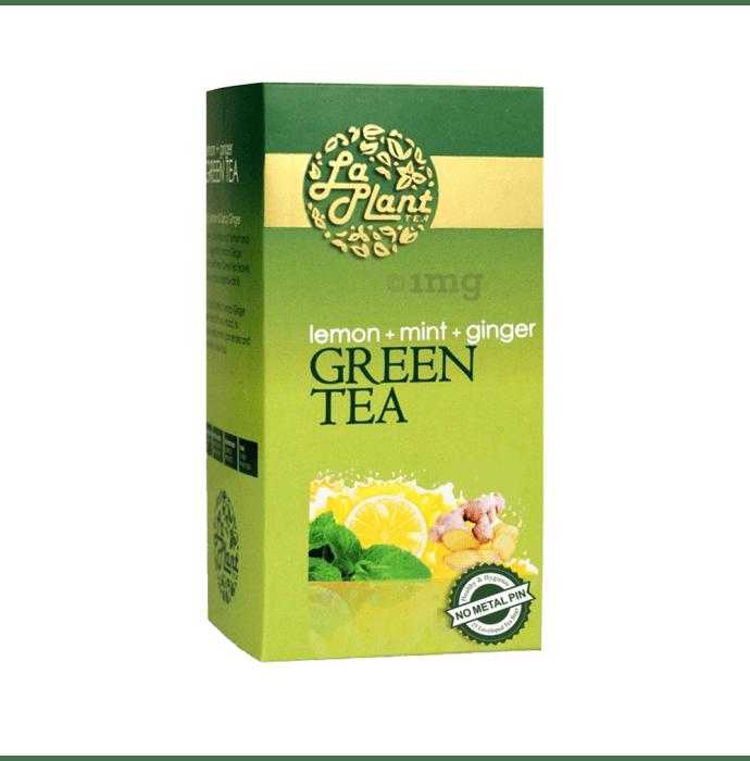 Laplant Green Tea Bag Lemon+Mint+Ginger
