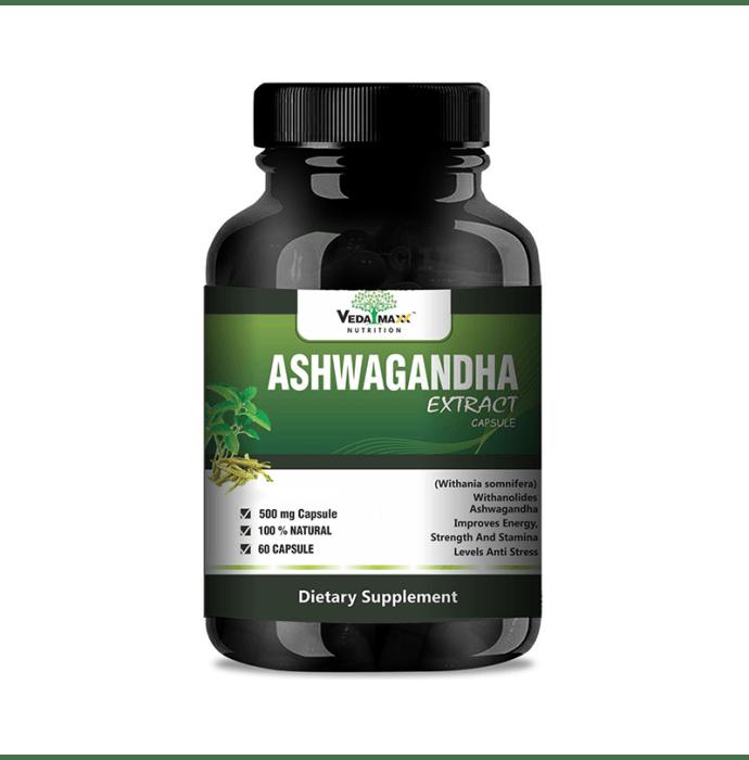 Veda Maxx Nutrition Ashwagandha Extract 500mg Capsule