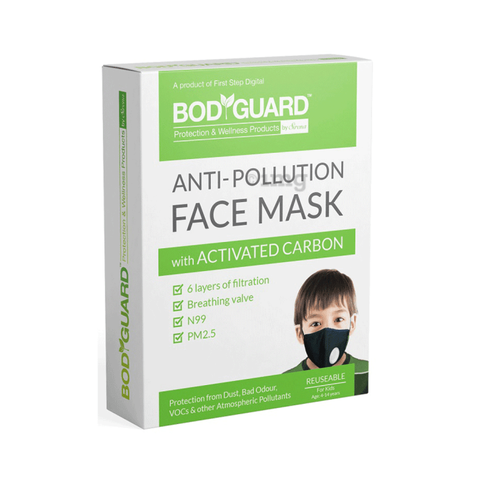 Bodyguard Anti Pollution Mask with Activated Carbon, N99 + PM2.5 (Kids)