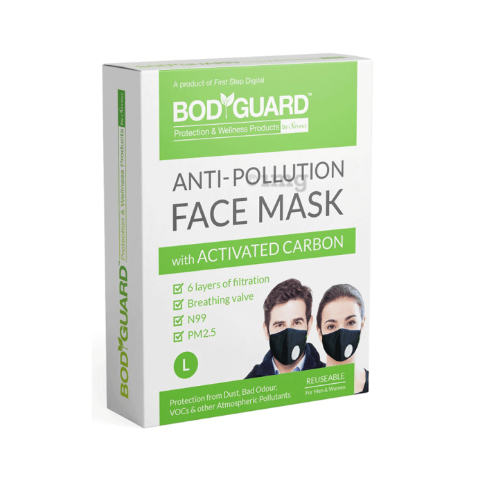 Bodyguard Anti Pollution Mask with Activated Carbon, N99 + PM2.5 L