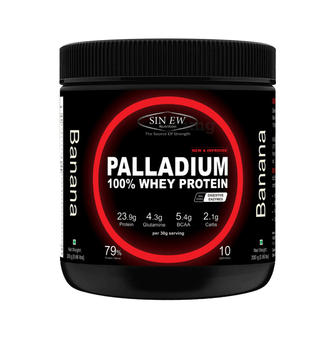 Sinew Nutrition Palladium 100% Whey Protein with Digestive Enzymes Banana