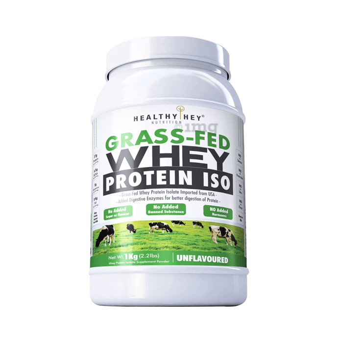 HealthyHey Nutrition Grass-Fed Whey Protein ISO Unflavoured
